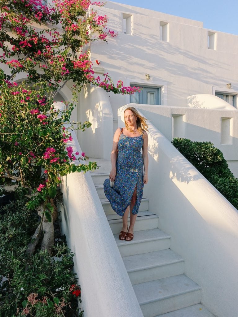 Guide to Perissa in Santorini - Claire Etchell, NakedPR Girl